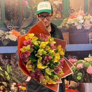 Букет 19 орхидей №-АА05