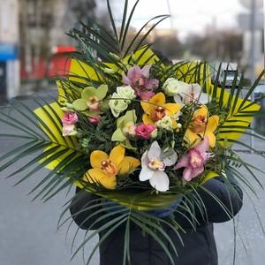Букет 9 орхидей №-АА02