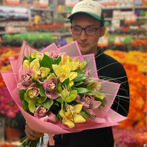 Букет 15 орхидей №-АА03