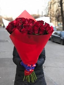 Букет 25 роза 70см в оформлении № АА - 003