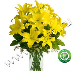 № Л-131 Желтые лилии. Цена за штуку.