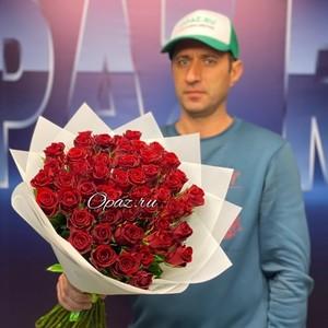 51 роза Premium 40см в оформлении №РС-079