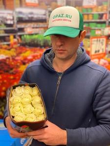 "Цена 25шт Роза Эквадор Premium ""Проуд"""