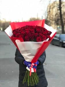 Букет 51 роза 70см в оформлении № АА - 002