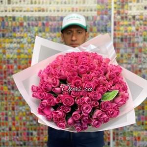 101 роза 40см Premium в оформлении. №РС-099