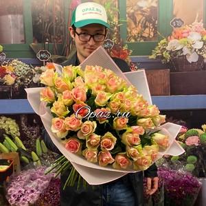 51 роза Голландия Premium 50см №РС-106
