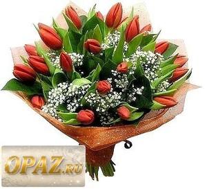 № A-1626 В основу букета входит 25 тюльпанов