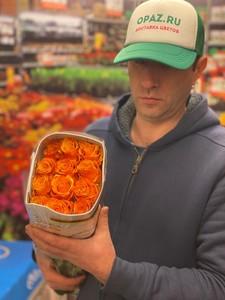 "Цена 25шт Роза Эквадор Premium ""Тайкун"""