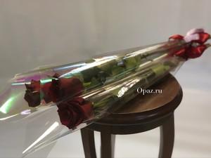 1 роза 70 см. в оформлении