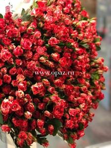 Роза кустовая Фаер Ворк 70см. цена за шт. 78руб. в упаковке 10шт.