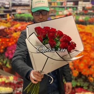 25 роз Голландия Premium в оформлении РС-132 Роза 50см