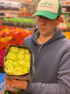 "Цена 25шт  Роза Эквадор Premium ""Лимонад"""