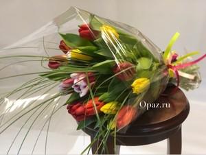 т-004 Тюльпаны 15 шт. в оформлении
