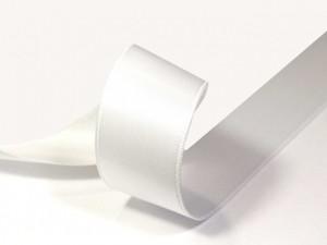 лента  атласная белая  4 см   / цена  за 1 метр