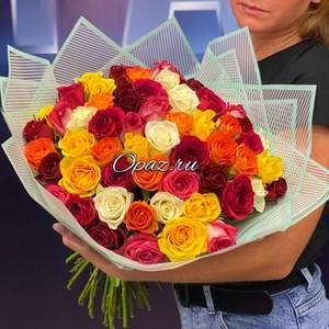 51 роза Premium 40см в оформлении №РС-088