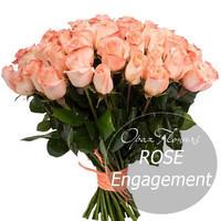 """Букет из 25 роз """"Ангажемент"""" 50 см"""
