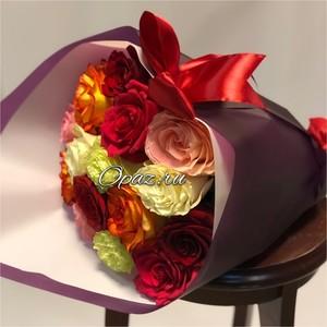 15 роз Голландия Premium оформлении №РС-068