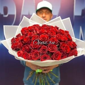 51 роза Эквадор Premium 60см №РС-063