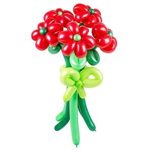Букет из шариков Красные цветы