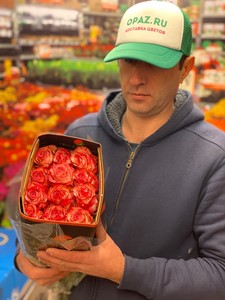 """Цена 25 шт Роза Эквадор Premium """"Мэджик тайм"""""""