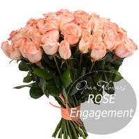 """Букет из 25 роз """"Ангажемент"""" 60 см"""