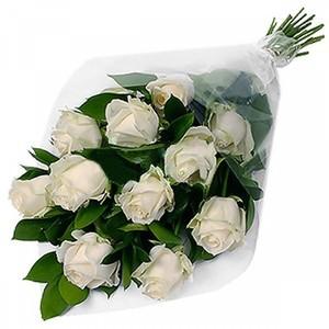 Роза Эквадор Premium 11шт 60см в оформленинии