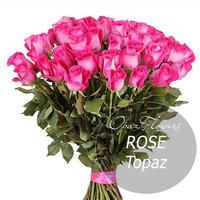 """Букет из 25 роз """"Топаз"""" 70 см"""