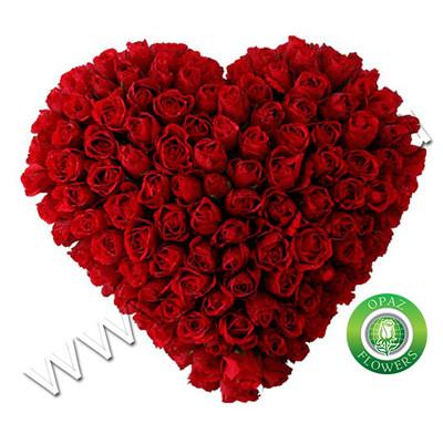№ A-701 Букет сердце из 101 красной розы