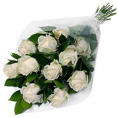 Роза Эквадор Premium 11шт 60см в оформленинии№ РО-03