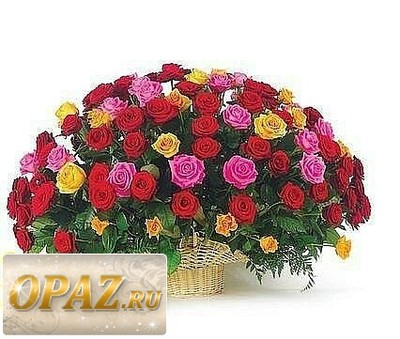 № A-1108 В основу корзины входит 111 роза.